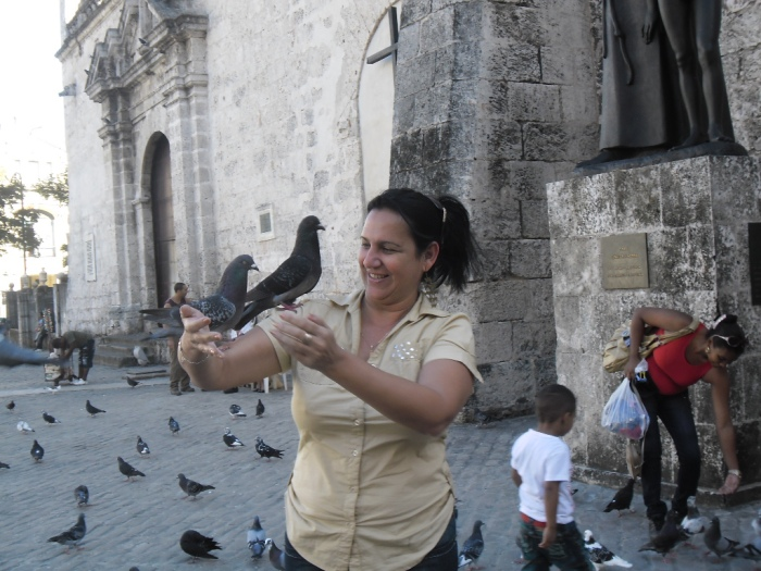 En la plaza de las palomas