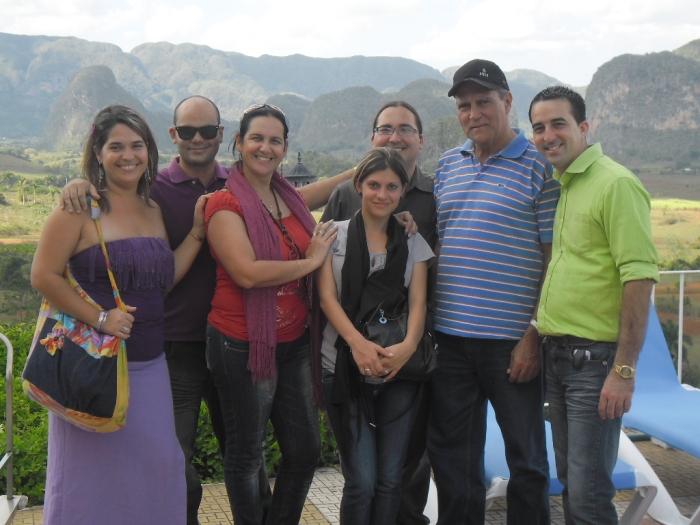 En viñales con los invitados al coloquio CORESMA