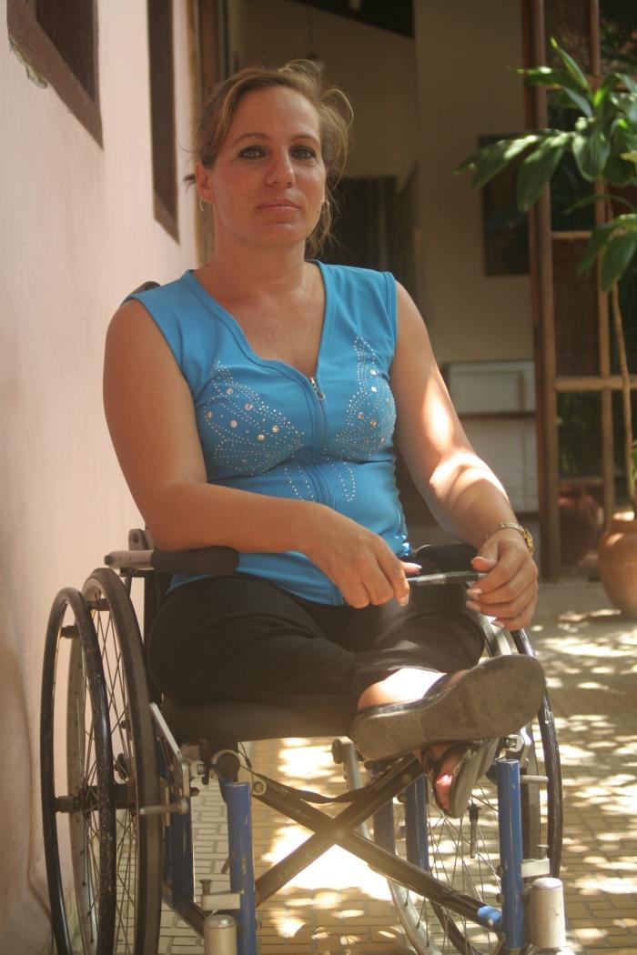 Yuliet solo usa el sillón de ruedas cuando quiere trasladarse rápido de un lugar a otro