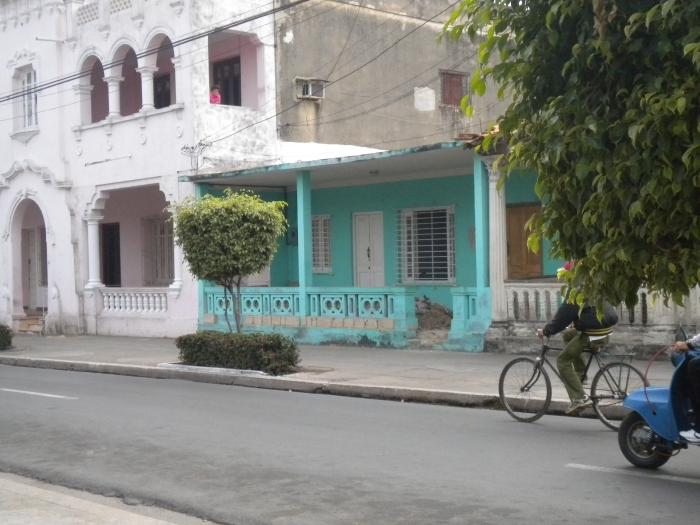 La casa de Yamilia Pérez es la pintada de verde