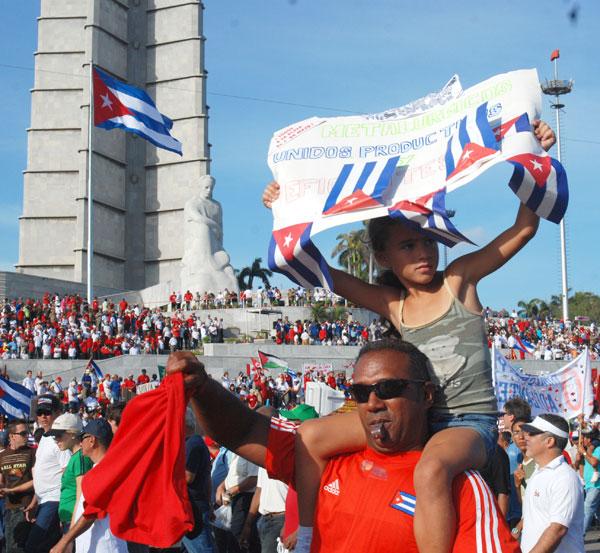 Yuslainis desfiló el Primero de Mayo del año anterior en La Habana