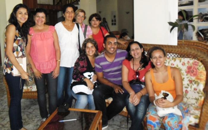 Con las nuevas amistades en el Postgrado de Hipermedia en el Contexto Local