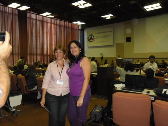 en el II Taller de Redes Sociales y medios alternativos en el Palacio de las convenciones con más de 200 participates  de Cuba y de otros paises