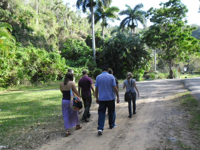 Durante el recorrido por el San Vicente en Viñales