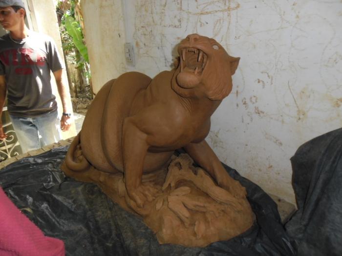 Una de las piezas a medio hacer en el proyecto Fidias