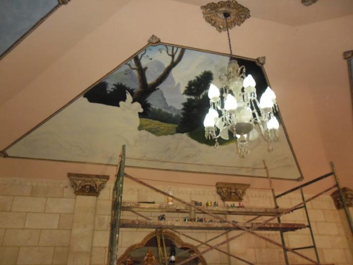 Actualmente se trabaja en las obras que cubren el techo de la casona en la que radica el proyecto Fidias