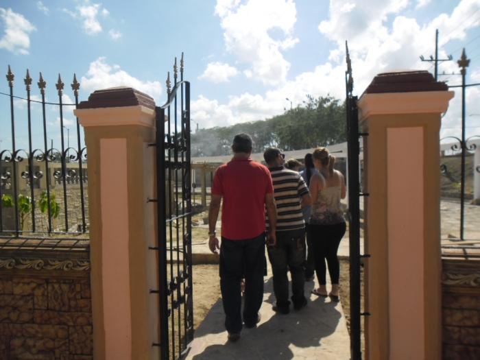 Entrada al parque monumental que se inaugurará dentro de poco tiempo