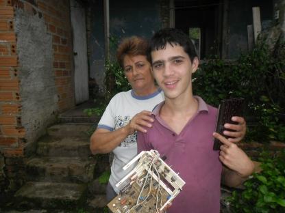 Juani con su maestra