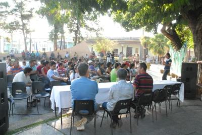 El Festival Mundial de la Juventud y los Estudiantes (FMJE) en Pinar del Río en el parque Roberto Amarán