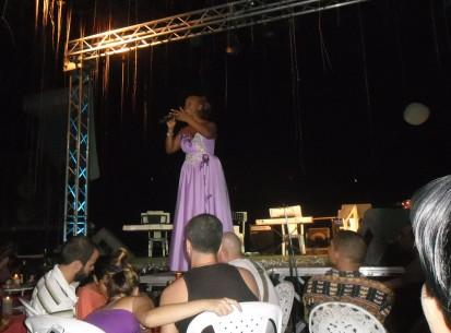 La Mora en su concierto en La Sitiera