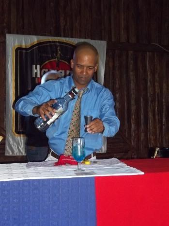 Fidel Guillermo Duarte, otro de los recién graduados que participaron en la demostración por el 14 de Febrero.