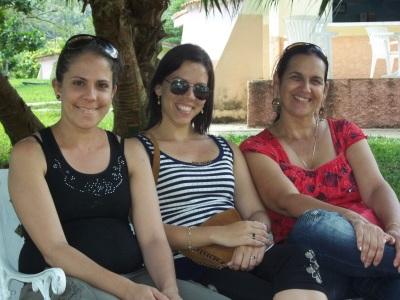 con Bertica y Magda en el encuentro de blogueros en Viñales