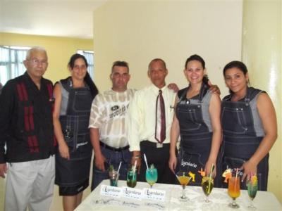 Con los miembros del jurado en el evento Con sabor de mujer