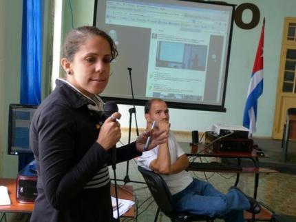 Berta Mojena en el encuentro de blogueros