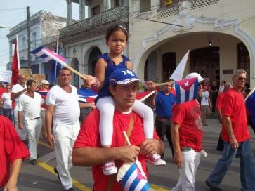 Desfile en Pinar del Río por el Primero de Mayo