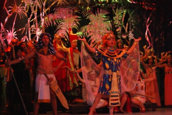En el teatro Milanés de pinar del Río se presentó la Corte del Faraón