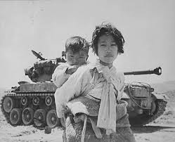 niños refugiados en la guerra de Corea