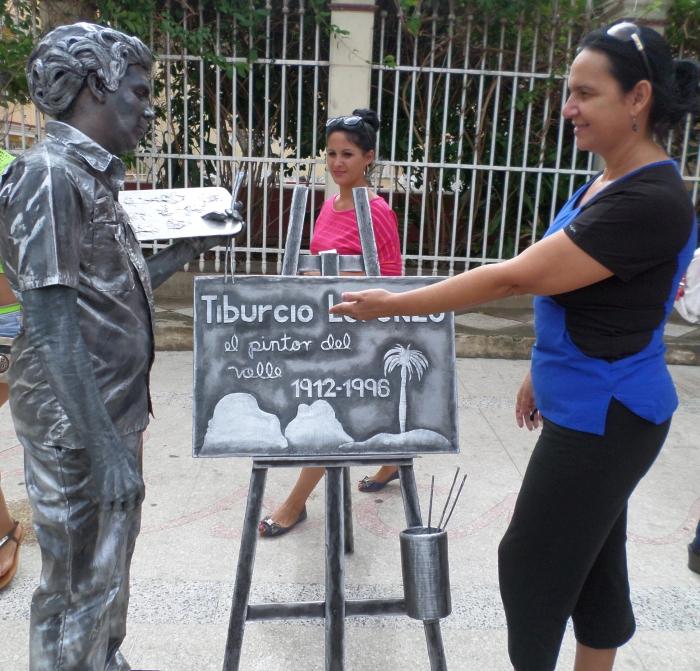 Con el pintor Tiburcio Lorenzo