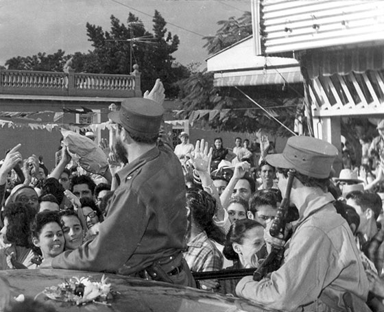 Fidel Castro Ruz en su entrada a Pinar del Río, después del triunfo de la Revolución, el 17 enero 1959