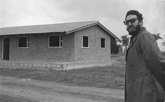 Fidel Castro Ruz, en El Rosario, Viñales en enero de 1960