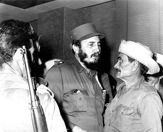 Fidel Castro Ruz con Los Malagones el 20 de octubre de1959