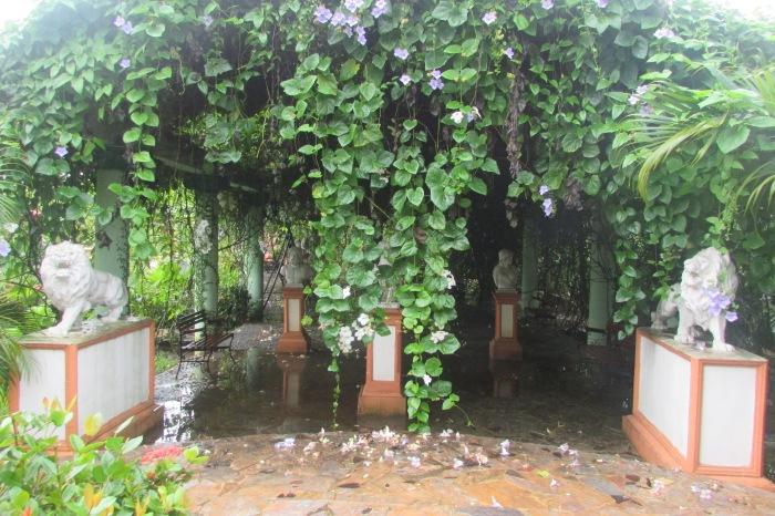 Parque de las Esculturas y la lluvia